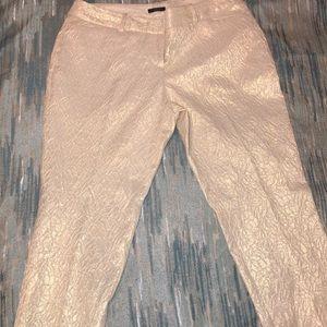 Worthington metallic cream and gold slacks (size6)